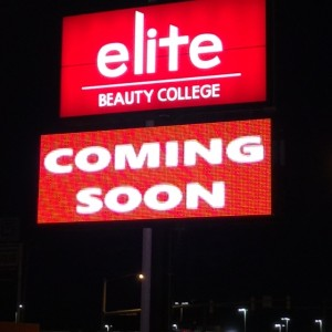 We've got our name in lights!  Opening Soon!